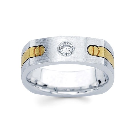 Men's Diamond Ring With 0.20 Carat TW #MR-4999150 - C Diamond King
