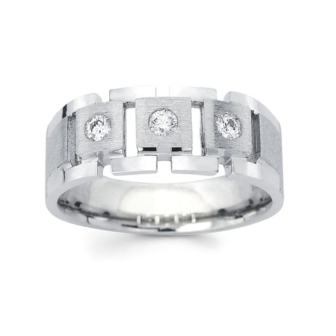 Men's Diamond Ring With 0.25 Carat TW #MR-5021150 - C Diamond King