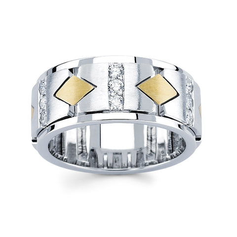 Men's Diamond Ring With 0.65 Carat TW #MR-6006150 - C Diamond King