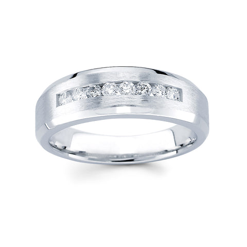 Men's Diamond Ring With 0.45 Carat TW #MR-6351150 - C Diamond King