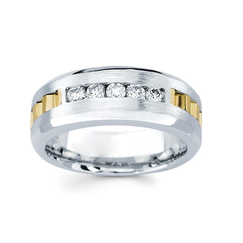 Men's Diamond Ring With 0.45 Carat TW #MR-6439150 - C Diamond King