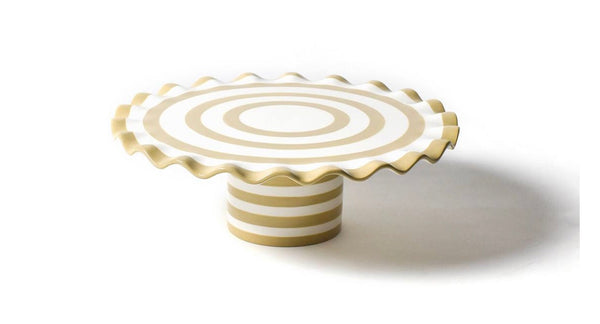 Cobble Spot On Ruffle Cake Stand