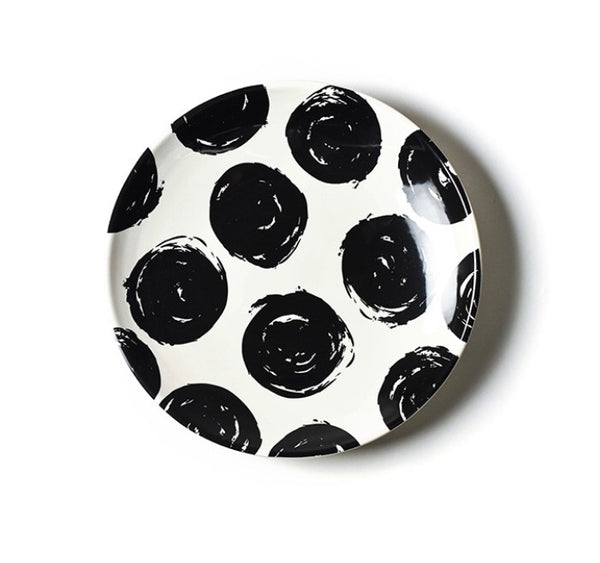 Brushed Dot Scoop Dinner Plate