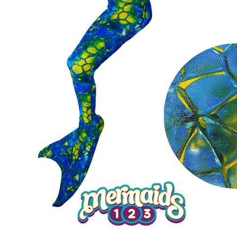 Mermaids123 Kit Cola de Sirena Crystal Blue - Compra en bibiki