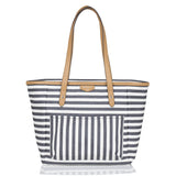 TWELVElittle Pañalera Everyday Tote Rayas Grises
