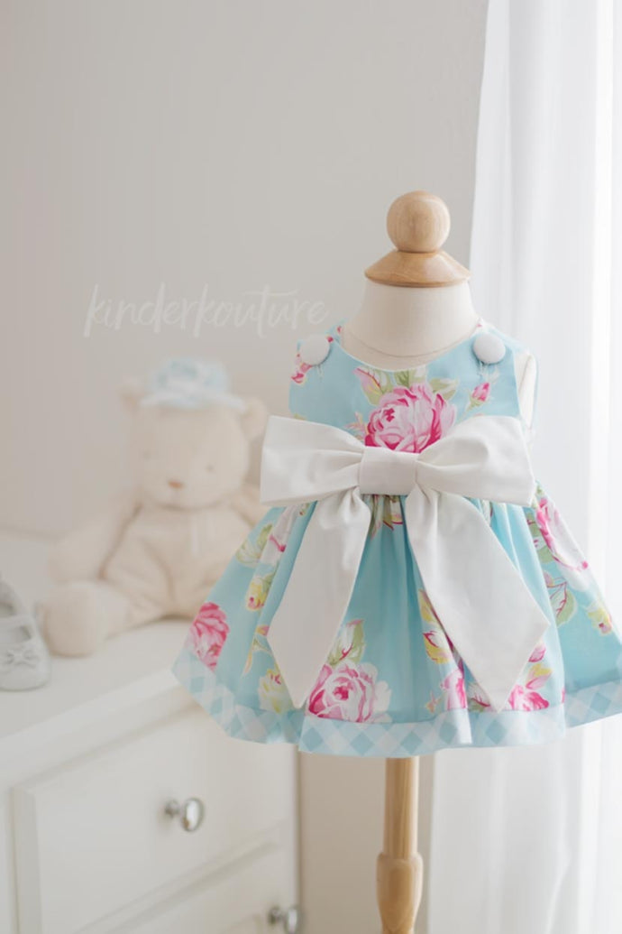 Baby Rose Dress Blue