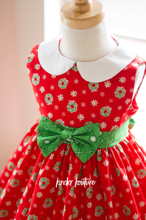 "Christmas ""Wee Bitty"" Holiday Dress -  - Kinder Kouture"