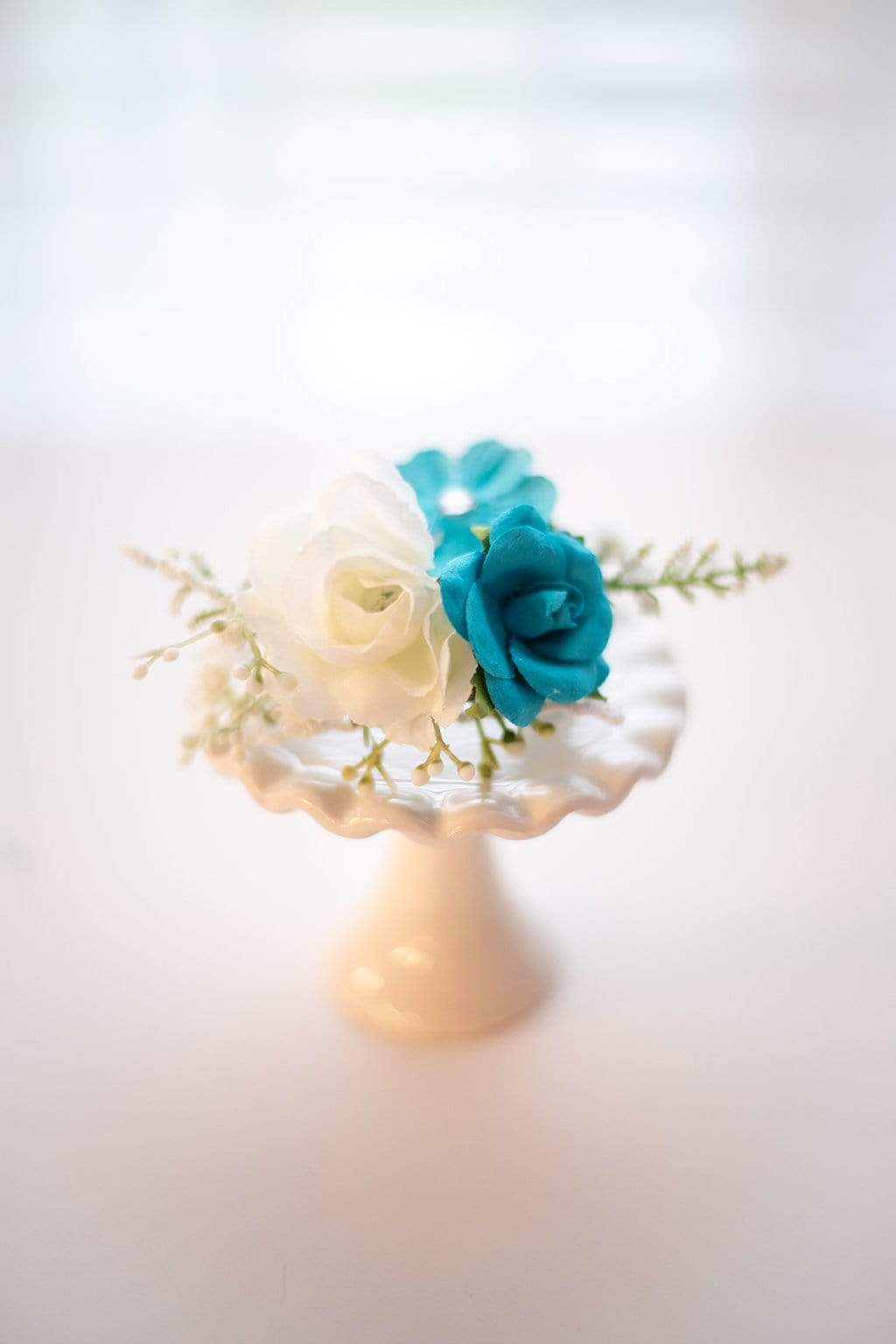 Blueberry and Vanilla Rose headband