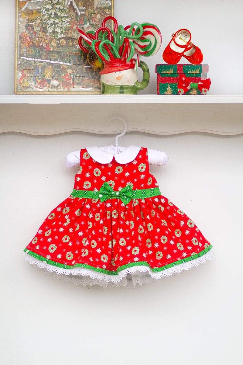 "Kinder Kouture Christmas 3mos. / Red Christmas ""Wee Bitty"" Holiday Dress"