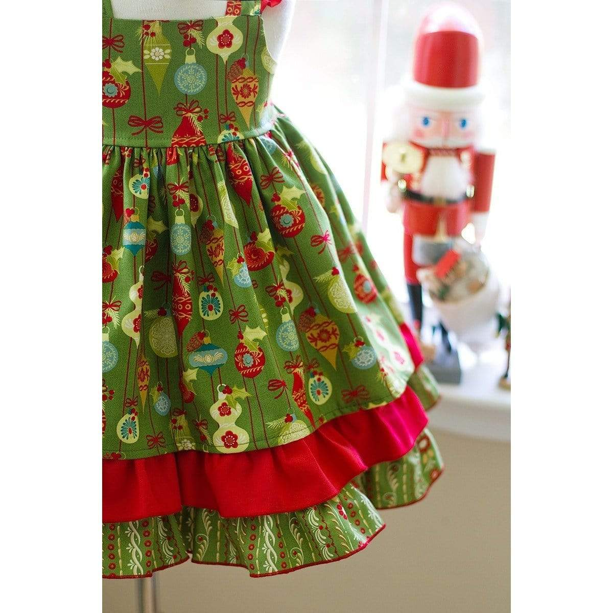 Christmas Girls Mistletoe Dress