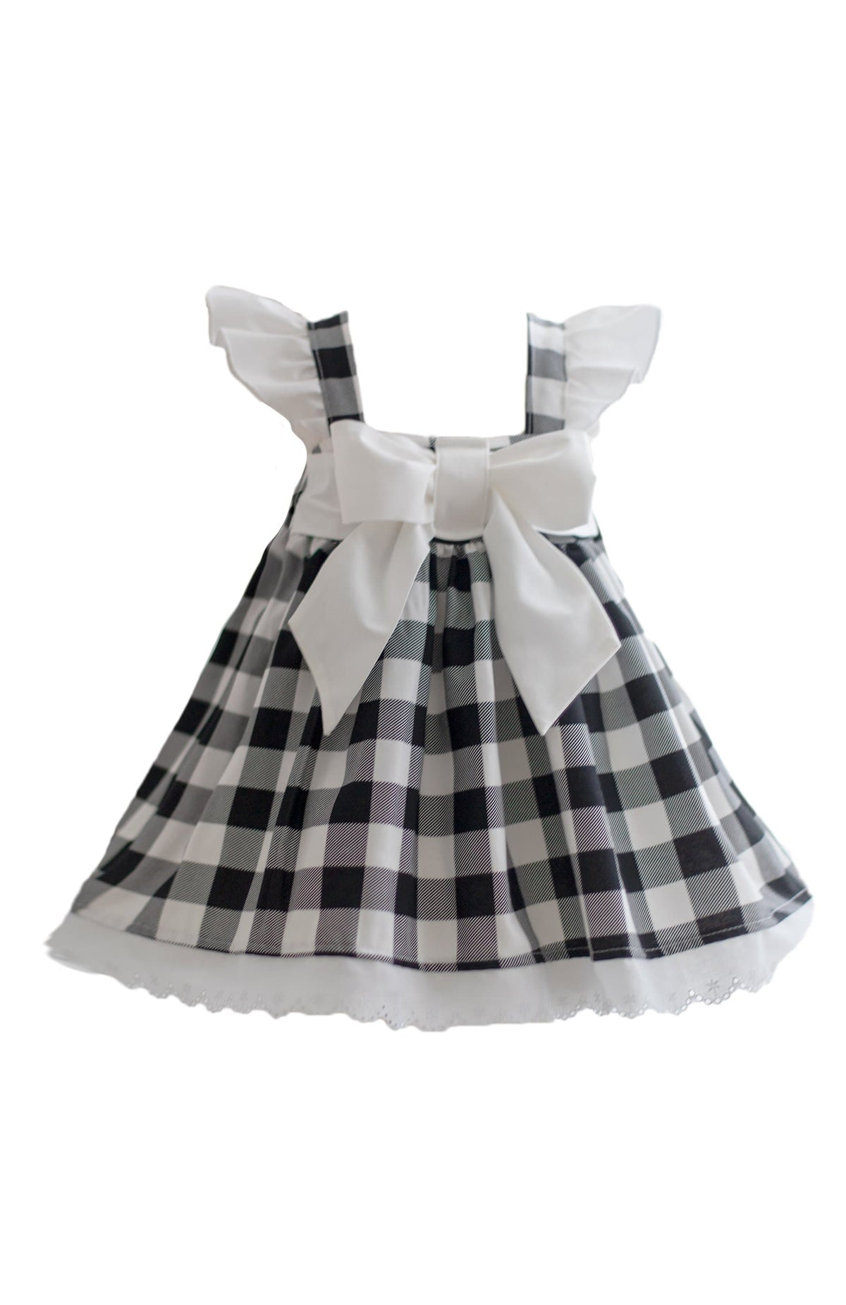 Black Gingham Dress