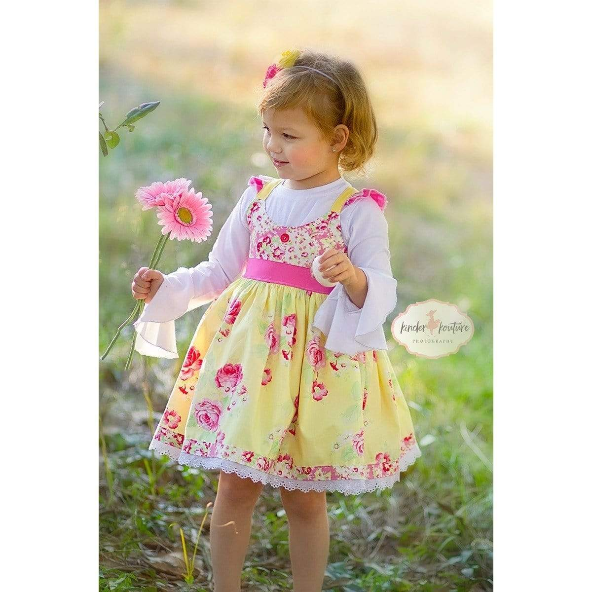 RTS Lola Rose Dress (Yellow) 2T