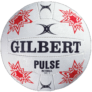 Ball Netball Pulse sz5 White/Red