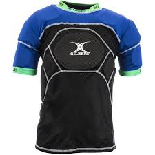 Gilbert Charger Body Armour all around protection top with 12 individual pads covering all key impact areas with breathable duo mesh
