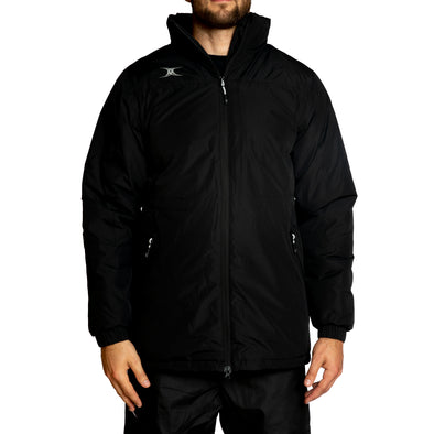 Gilbert Pro All Weather Jacket waterproof and breathable padded jacket with detachable hood full front zip and zipped side pockets with elasticated cuffs and adjustable waist and taffeta lined