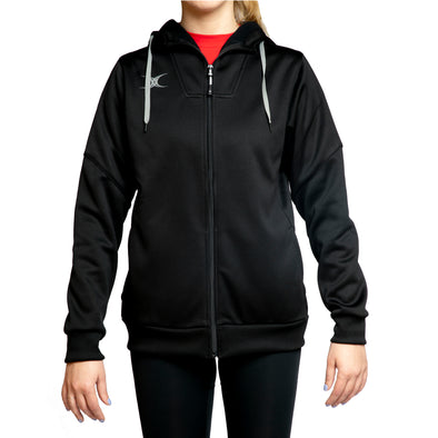 Gilbert Pro Tech womens hoodie soft active stretch moisture wicking full zip rib cuffs and hem