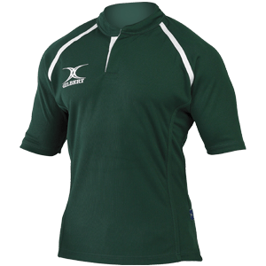 Gilbert Xact Jersey Forest Green moisture controlling collar strength durable flexibility and functionality