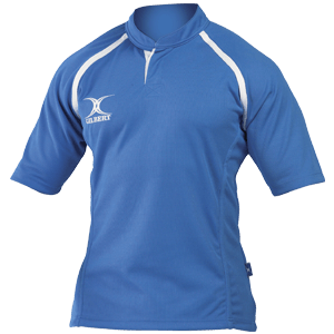 Gilbert Xact Jersey Sky moisture controlling collar strength durable flexibility and functionality