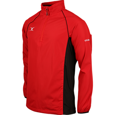 Gilbert Tornado Jacket water-resistant shell fleece lining warmth adjustable hem with pockets red/black