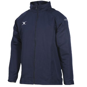 Gilbert Revolution Full Zip Jacket water-resistant shell full-length center zip adjustable pack-away hood with pockets