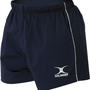 Gilbert Match Short Navy sport-specific fabrics stretch elasticated waist with drawcord and non-slip tape reinforced seams