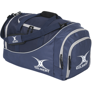 Gilbert Holdall V2 Club Bag kit bag for senior players end pocket for shoe and wet gear large main compartment side pocket for additional storage navy