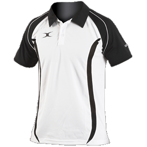 Gilbert Performance Polo moisture controlling shaped panels collar three button