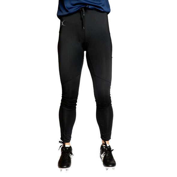 Gilbert Women's Vixen II Legging base layer training tights comfort mobility mesh panels full length elasticated waist with drawcord black navy