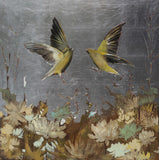 Finches in Flight 36 x 36
