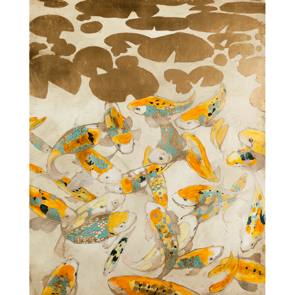 Koi on White 72 x 48