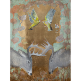 Finches & Antlers 48 x 36