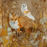 Fox and Owl 36 x 36