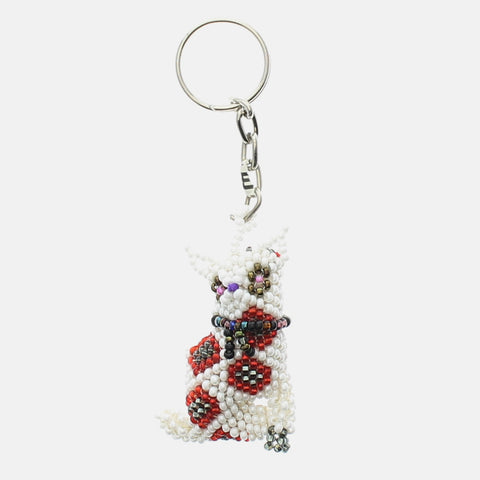 Beaded Keychain Dog