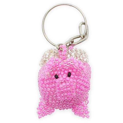 Beaded Keychain Pig Flying