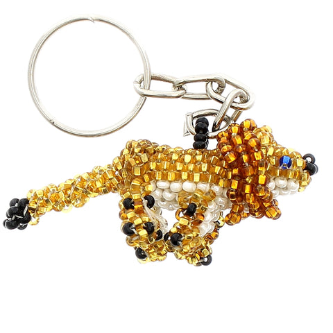 Beaded Keychain Lion