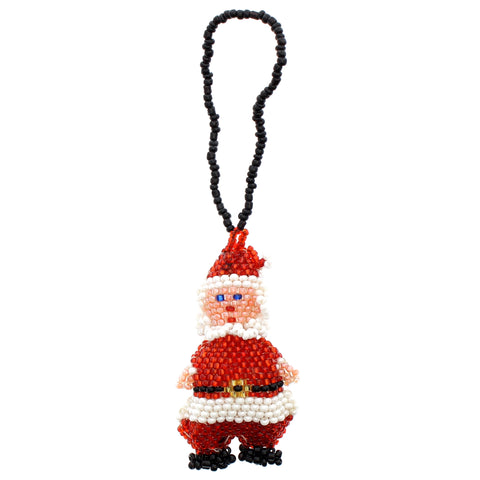 Beaded Ornament Santa Claus