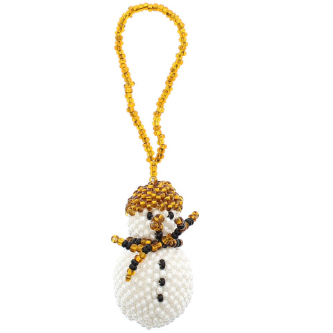 Beaded Ornament Snowman