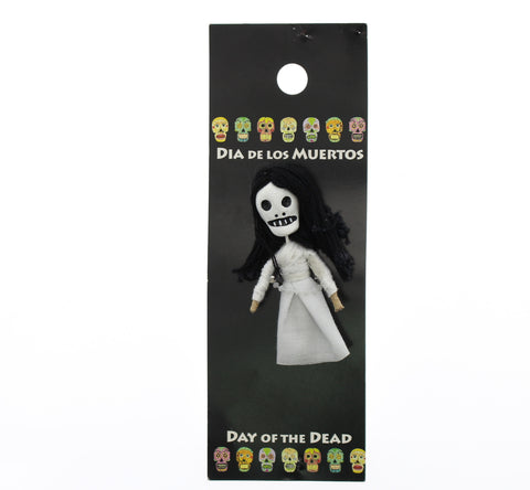 Worrydoll.com Day of The Dead Skeleton In White Dress