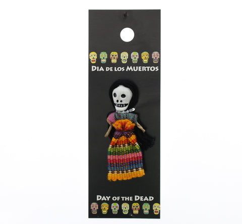 Worrydoll.com Day of The Dead Doll Typical Dress hand painted