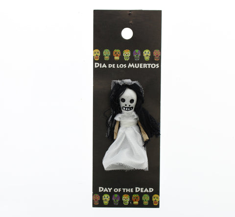 Worrydoll.com Day of The Dead Bride hand painted ceramic doll
