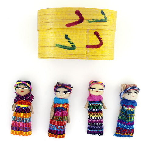 Four Large Worry Dolls in a Box