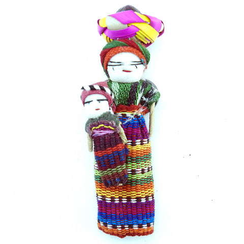 Worrydoll.com Worry Doll Magnet Mother And Child hand made