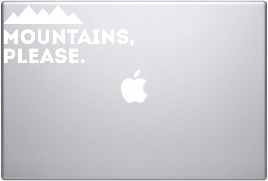 b327488d4d6 Mountains Please Diecut Sticker