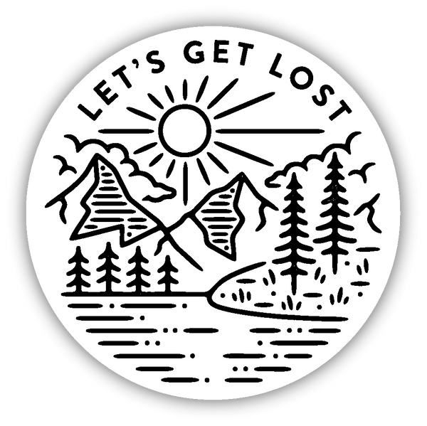 Let S Get Lost Sticker Stickers Northwest