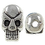 Skulls Metal Beads (15 Pieces) - www.kraftsandbeads.com