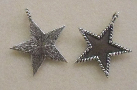 Star Charms (6 Pieces) - www.kraftsandbeads.com
