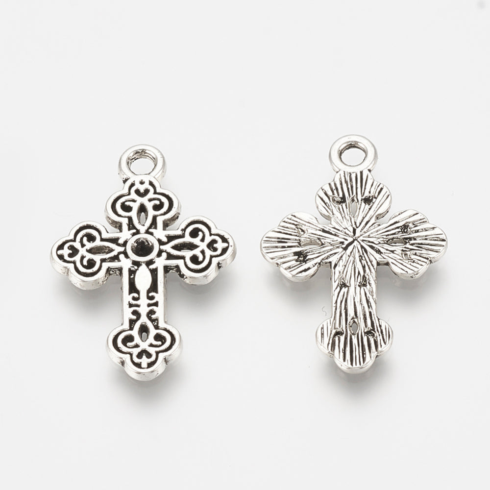 Crosses Pewter Silver (15 Pieces)