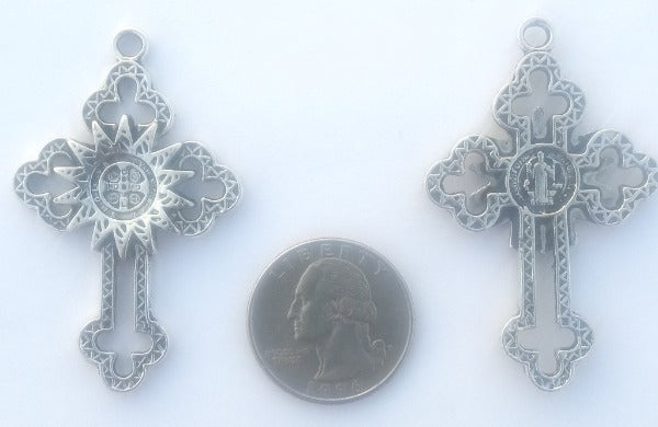 Cross Religious Pewter (2 Pieces)