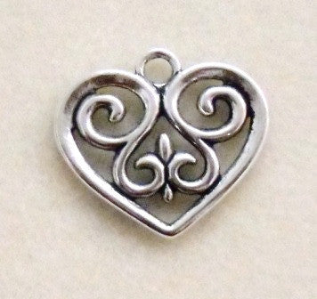 Heart Charms (2 Pieces) - www.kraftsandbeads.com