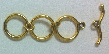 Gold Color Pewter Toggle and Bar with Extension (3 Sets or 9 Sets) - www.kraftsandbeads.com